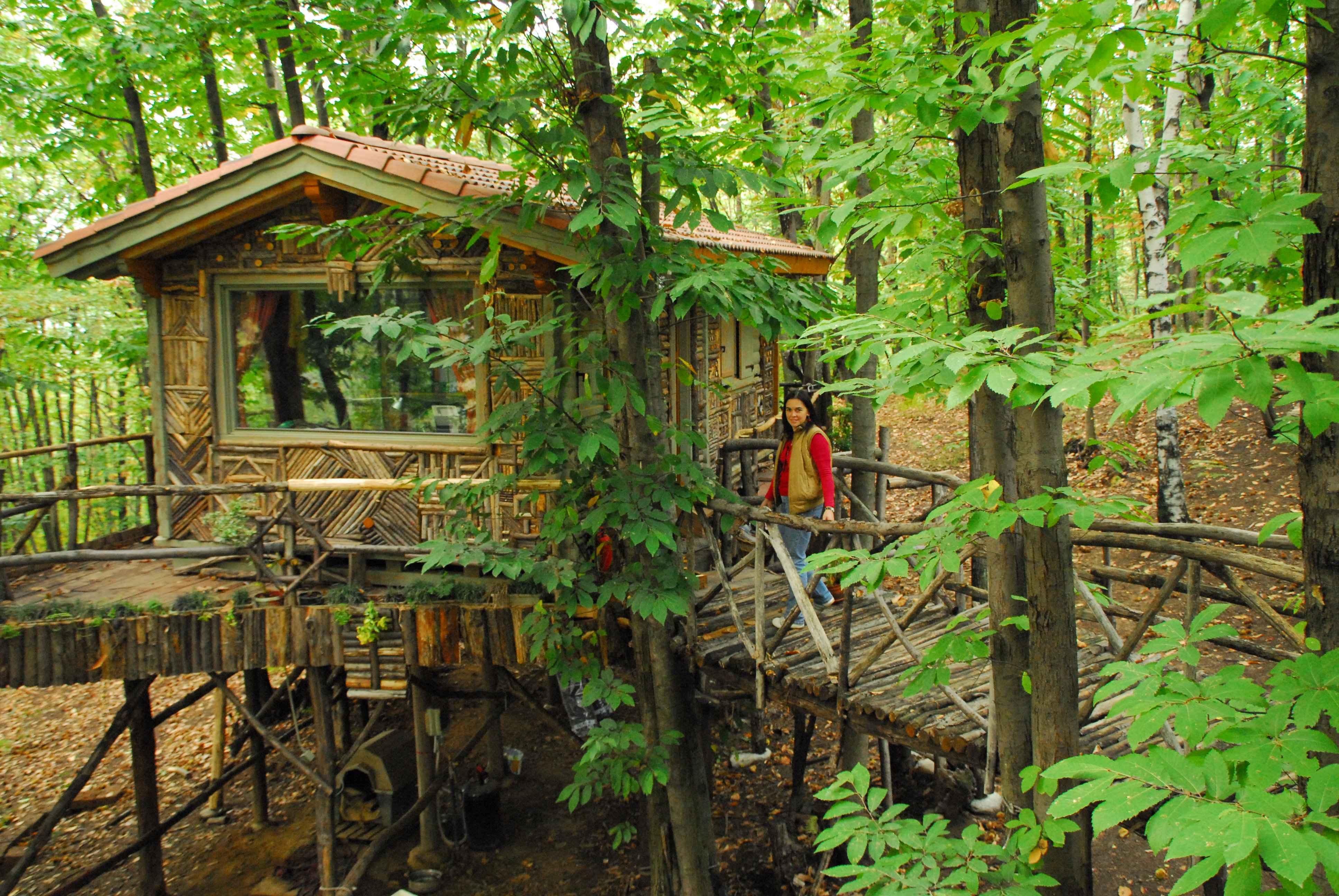 Piemonte italia un intero villaggio di case sugli for Case in legno sugli alberi