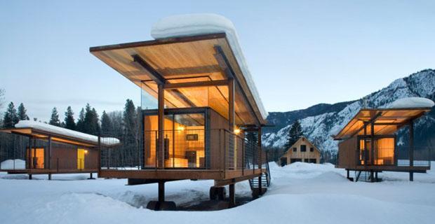 Edifici mobili 2 esperimenti di case su ruote for Piani di casa sul fiume su palafitte